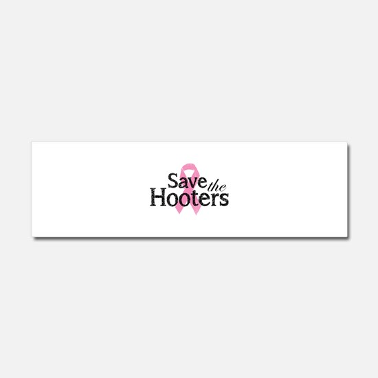 Save the hooters Car Magnet 10 x 3