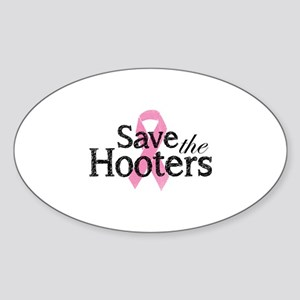 Save the hooters Sticker (Oval)