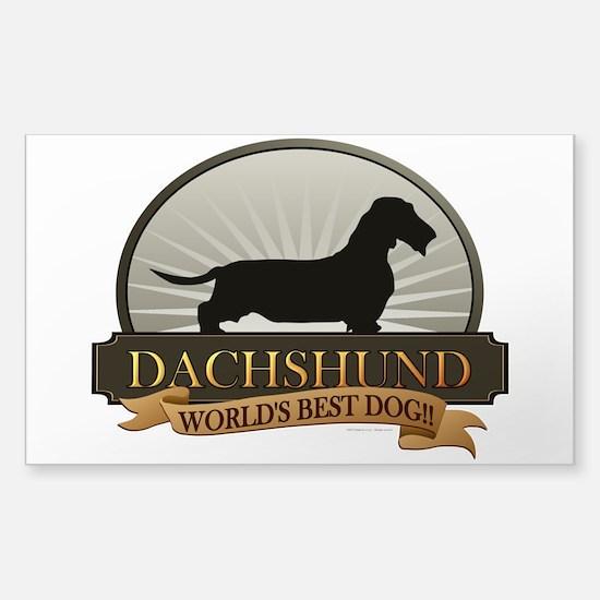 Dachshund [wire-haired] Sticker (Rectangle)