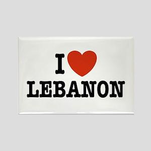 I Love Lebanon Rectangle Magnet
