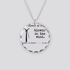 blowin in the wind Necklace Circle Charm
