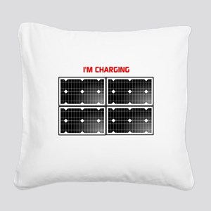 Im charging Square Canvas Pillow