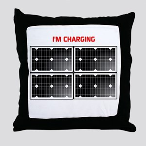 Im charging Throw Pillow