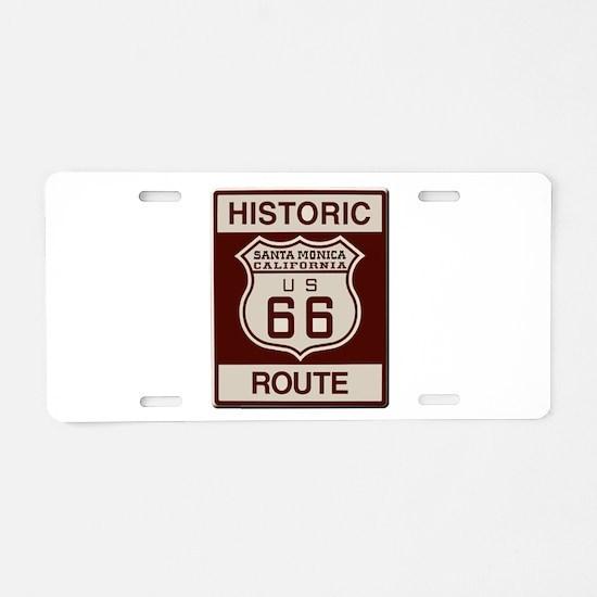Santa Monica Route 66 Aluminum License Plate