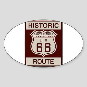 Santa Monica Route 66 Sticker (Oval)