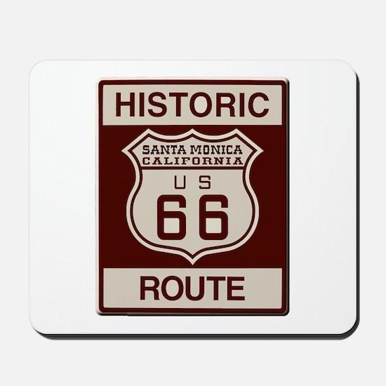 Santa Monica Route 66 Mousepad