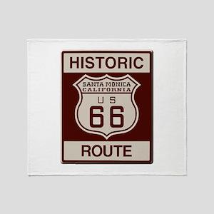 Santa Monica Route 66 Throw Blanket