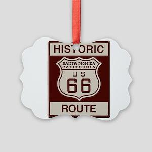 Santa Monica Route 66 Picture Ornament