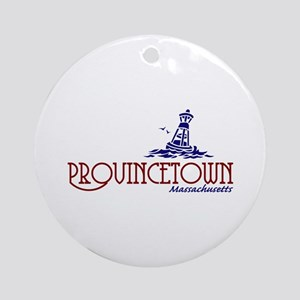 Provincetown Massachusetts Ornament (Round)
