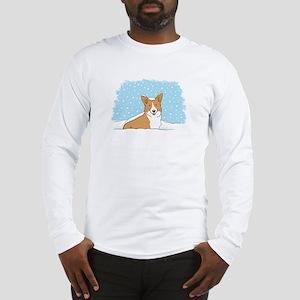 Happy Snow Corgi Long Sleeve T-Shirt