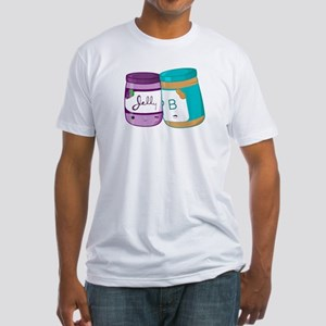 Peanut Butter and Jelly Love Fitted T-Shirt