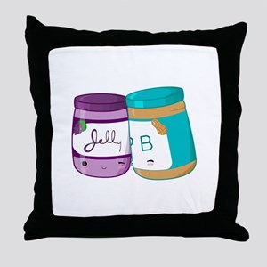 Peanut Butter and Jelly Love Throw Pillow