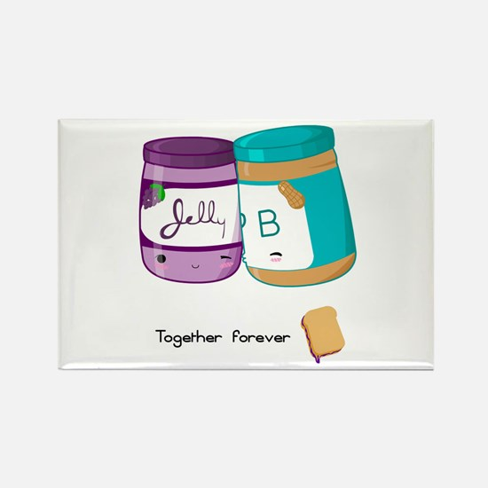 Peanut Butter and Jelly Love Rectangle Magnet