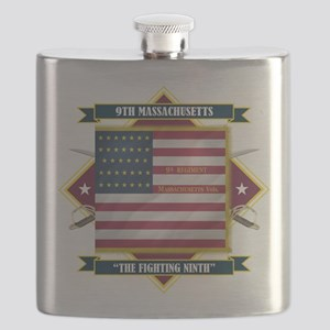 9th Massachusetts (Diamond) Flask