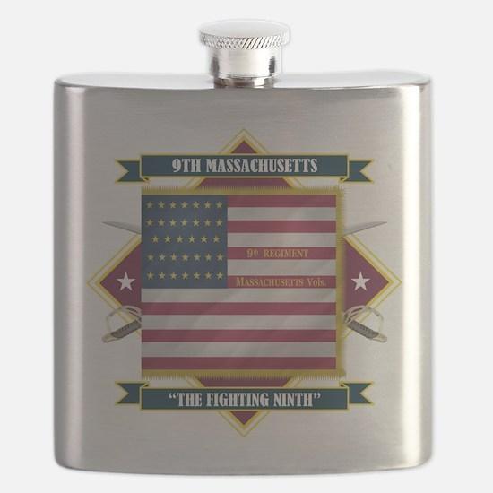 9th Massachusetts (Diamond).png Flask
