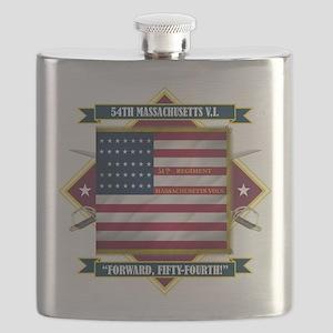 54th Massachusetts (Diamond) Flask
