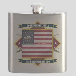 69th Pennsylvania (Diamond) Flask