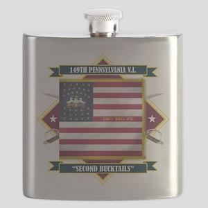 149th P.V.I. (Diamond) Flask