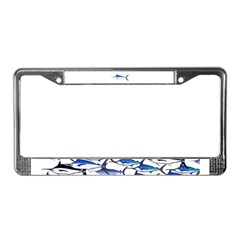 Blue Marlin fish License Plate Frame