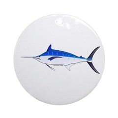 Blue Marlin fish Ornament (Round)