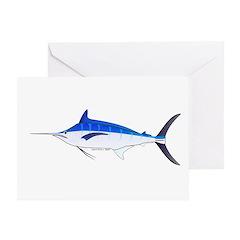 Blue Marlin fish Greeting Card