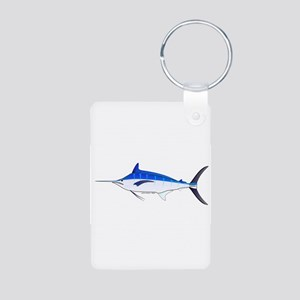 Blue Marlin fish Aluminum Photo Keychain