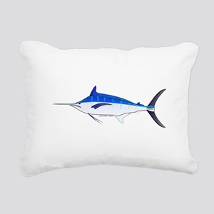 Blue Marlin fish Rectangular Canvas Pillow