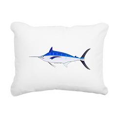 Blue Marlin fish Rectangular Canvas Pillow