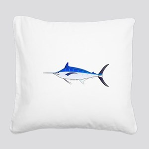 Blue Marlin fish Square Canvas Pillow