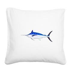 Blue Marlin fish Square Canvas Pillow
