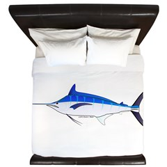 Blue Marlin fish King Duvet