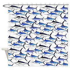 Blue Marlin fish Shower Curtain