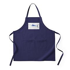 Blue Marlin fish Apron (dark)