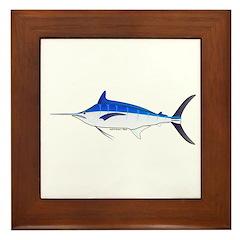 Blue Marlin fish Framed Tile