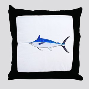 Blue Marlin fish Throw Pillow