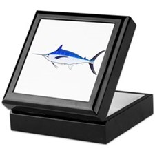 Blue Marlin fish Keepsake Box
