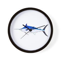 Blue Marlin fish Wall Clock