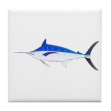 Blue Marlin fish Tile Coaster