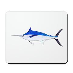 Blue Marlin fish Mousepad