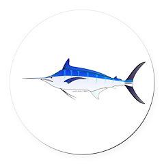 Blue Marlin fish Round Car Magnet
