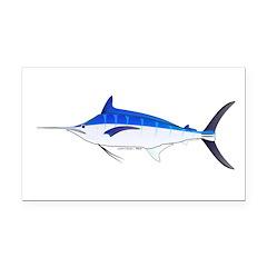 Blue Marlin fish Rectangle Car Magnet