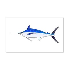 Blue Marlin fish Car Magnet 20 x 12