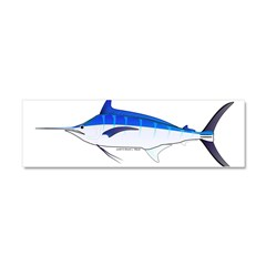 Blue Marlin fish Car Magnet 10 x 3