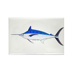 Blue Marlin fish Rectangle Magnet (10 pack)
