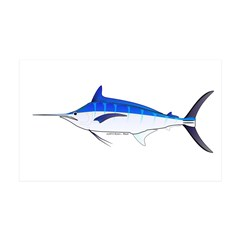 Blue Marlin fish Wall Decal