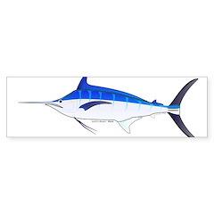 Blue Marlin fish Sticker (Bumper 10 pk)