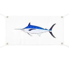 Blue Marlin fish Banner