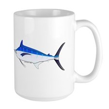 Blue Marlin fish Large Mug