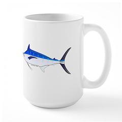 Blue Marlin fish Large Mug