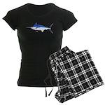 Blue Marlin fish Women's Dark Pajamas